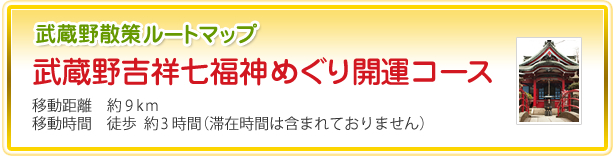 武蔵野散策ルートマップ 武蔵野吉祥七福神めぐり開運コース